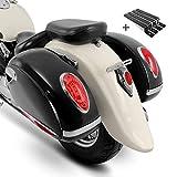 Seitenkoffer Craftride Alabama (Paar) je 33l + Haltesatz für Honda Rebel CMX 500, Shadow 750 Black...