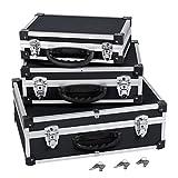 Varo y Kreator PRM10120 Set mit 3Werkzeugkoffern, Aluminium, jeweils 2Schlösser mit Schlüssel,...