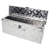 Grafner Aluminium Box 14 Liter aus massivem Riffel-Blech, mit Schloss und 2 Schlüssel, 485 x 140 x...