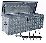 Truckbox D160 inkl. MON4004 Edelstahlhaus Werkzeugkasten, Deichselbox, Transportbox, Alubox,...