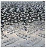 Aluminium Tränenblech 2500x1250 mm 2,5/4 mm DUETT Riffelblech, Strukturblech
