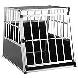 Cadoca Hundetransportbox L robust verschließbar aus Aluminium Autotransportbox Tiertransportbox...