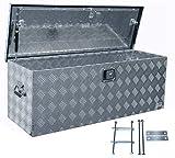 Truckbox D160 inkl. MON2012 Edelstahlhaus Werkzeugkasten, Deichselbox, Transportbox, Alubox,...
