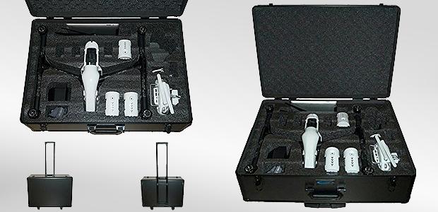 Aluminium Koffer für DJI Inspire Drohne und Zubehör - ein Trolley für den Quadrocopter