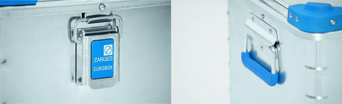 Die Euroboxen von Zarges weisen praktische Details auf, die sie robust und leicht bedienbar machen (Fotos: Zarges).